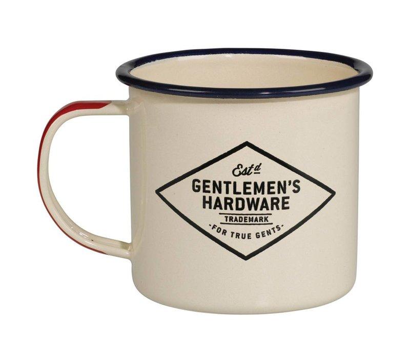 Adventure Enamel Mug, Cream