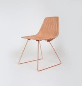 Lucy Side Dining Chair with Leather Saddle