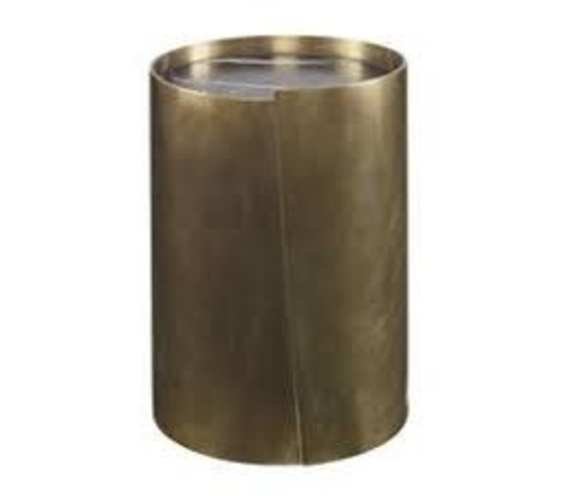 Alta Side Table Burn Brass With Negro