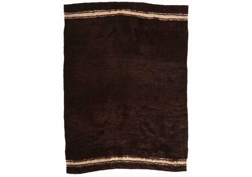 "Amadi AG15043 4'8"" x 6'4"" Brown with cream stripe"