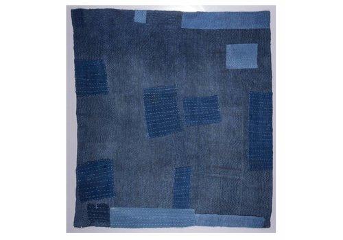 "Amadi BK16039 6'9"" x 7'6"" Blue Patchwork"