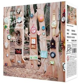 1000 Piece Puzzle Clocks and Trees