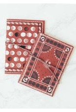 Moonphase Bandana Duo, Red 2 Fabric Journals