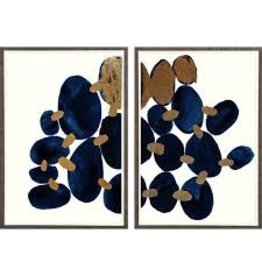 Lapis in Snow Diptych (31x44)