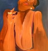 Black Woman Smoking Painting, Leiber *CS