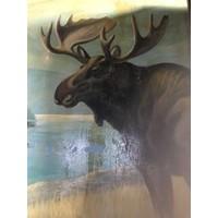 Vintage Yellowstone Park Moose, 3 Panel