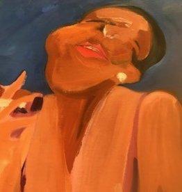 Black Woman Smoking Painting, Leiber
