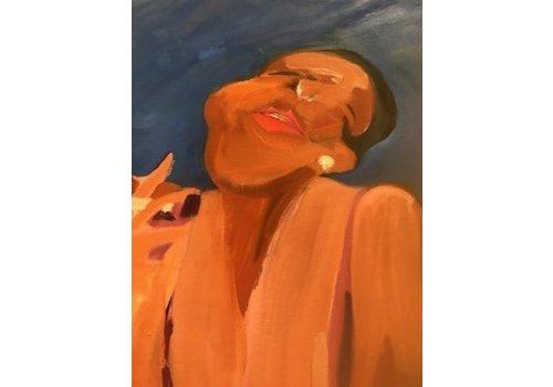 Gerson Leiber | Black Woman Smoking Painting