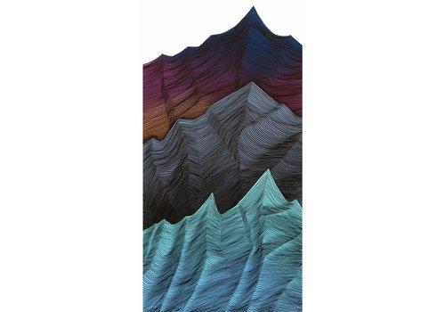 Havoc Hendricks | Triple Range Mountain Lines (24x48)