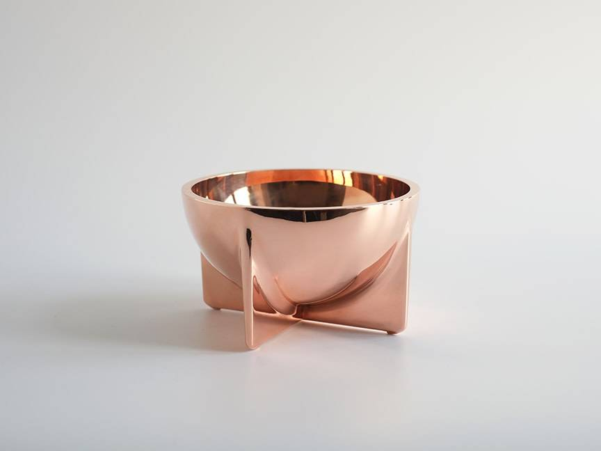 Copper Standing Bowl, Small