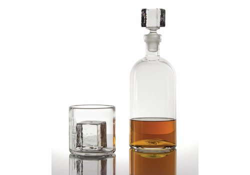Cube Glass Decanter, Clear