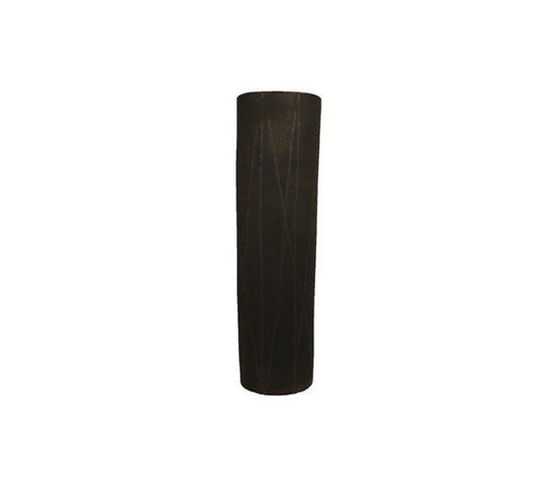 Taroudant Vase, Gun Metal Glaze, Large