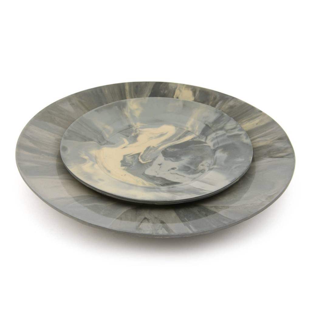 Marcy Salad Plate, Marble Gray