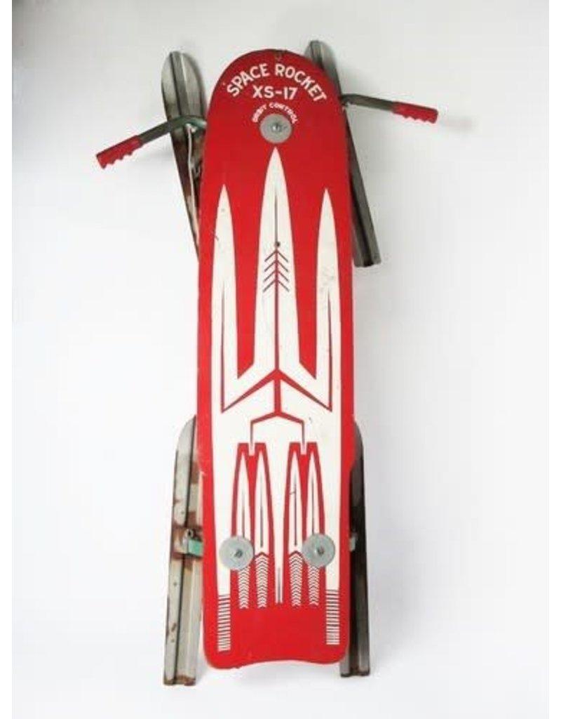 Space Rocket Vintage Sled
