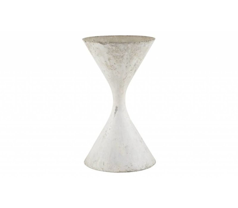 Hourglass Planter, White, Large