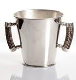 Round Ice Bucket - Deer Antler Handle