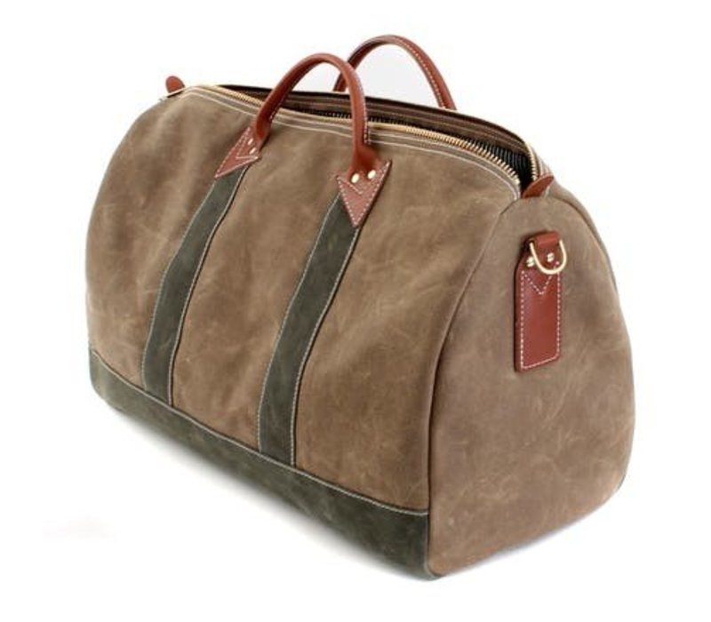 Duffle Bag, Olive and Ranger Tan