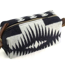 Cosmetic Bag, Large, Black & White Pendleton