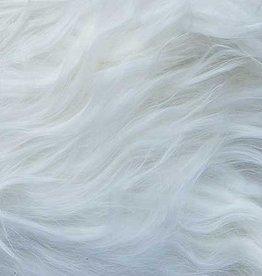 Alpaca Suri Throw, White