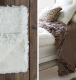Alpaca Suri Throw, White