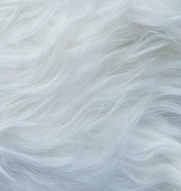 Alpaca Fur Pillow, White