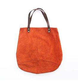 Suede Feed Bag, Rust