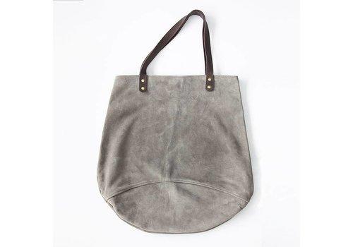 Suede Feed Bag, Dark Grey