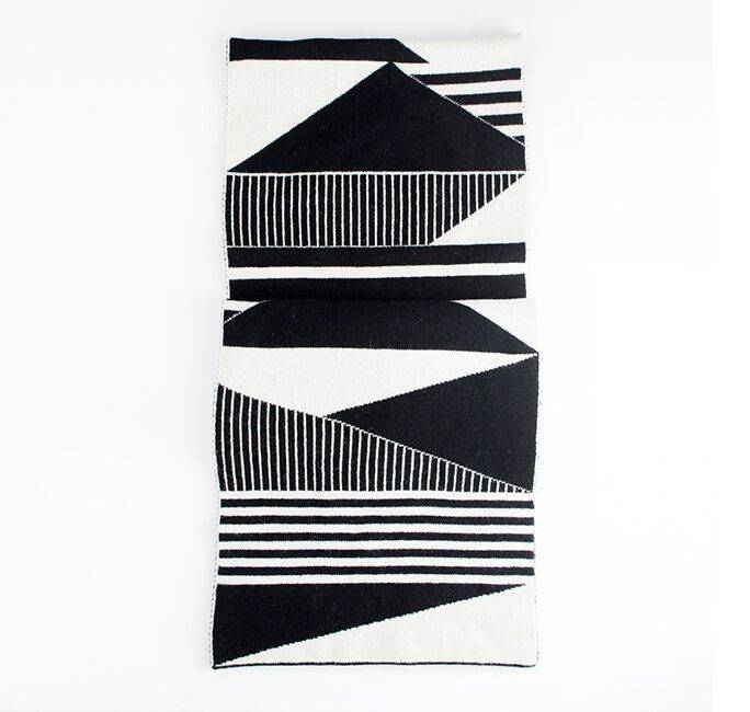 Semiphore Scarf, Black and White