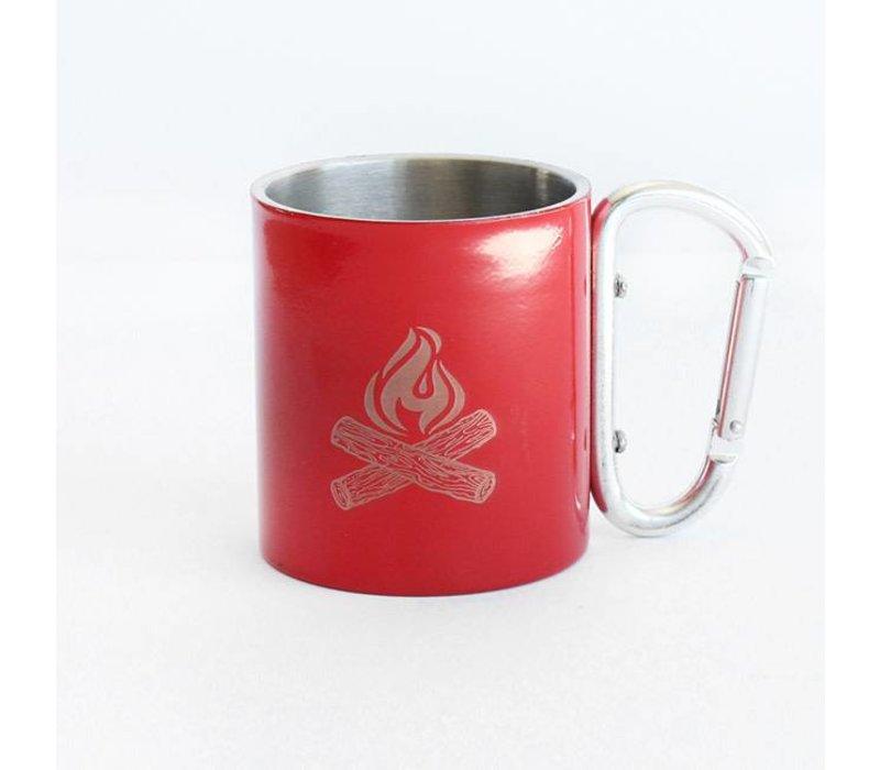 Iron Glory Stainless Mug, Red Campfire