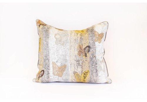 Butterfly Pillow | Yellow + Blue