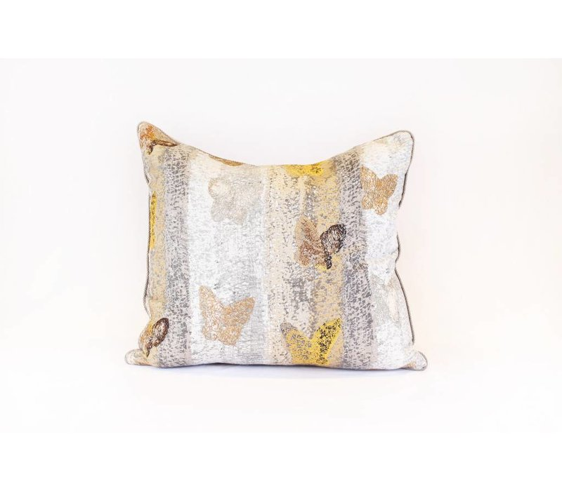 Butterfly Pillow | Yellow + Blue