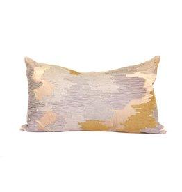 Sand Velvet Pillow | Lumbar | Mixed + Met