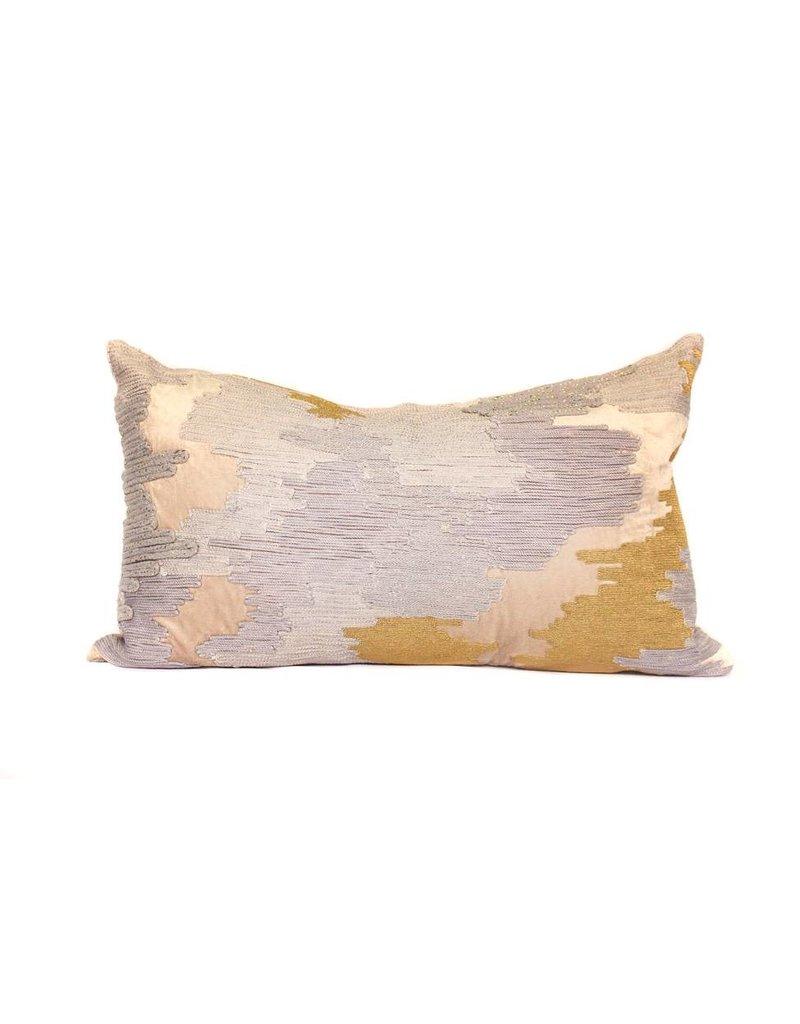 Sand Velvet Pillow   Lumbar   Mixed + Met