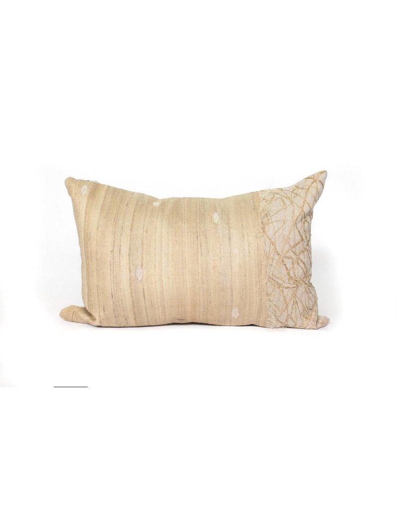 Uninterupted Pillow | Natural Linen + Raw Silk