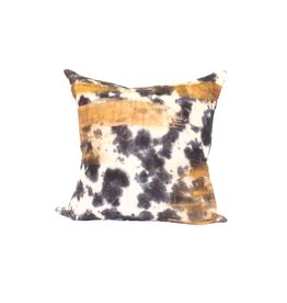 Tie Dye Pillow | Orange + Gray