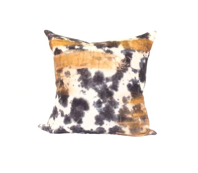 Tie Dye Pillow | Orange + Gray