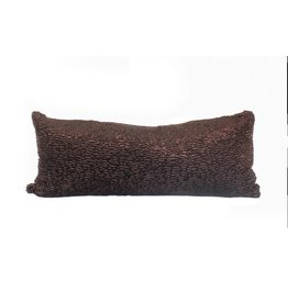 Chocolate Pillow | Lumbar | Brown + Gold