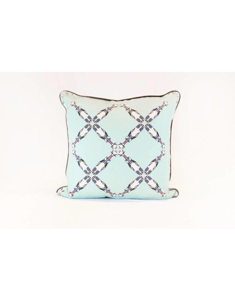 Cattle Pattern Pillow | Blue + Teal *CS