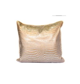 Croco Pillow 01 | Tan