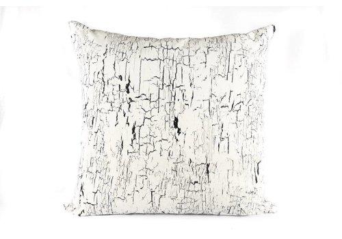 Crackle Pillow | Black + Cream