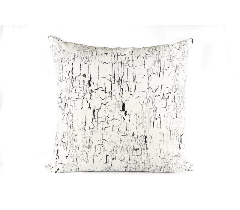 Crackle Pillow | Black + Cream