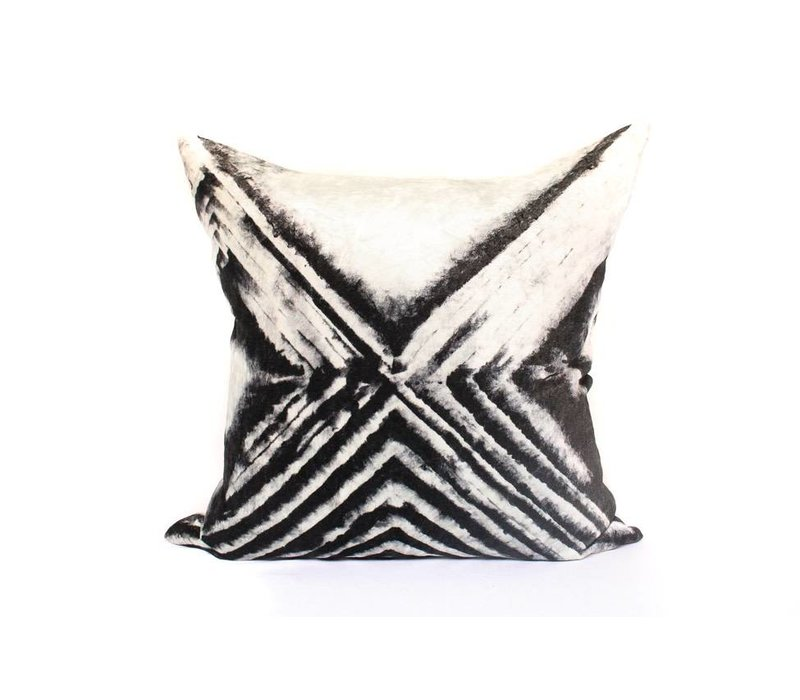 Risk Taker Pillow | Black + Creme