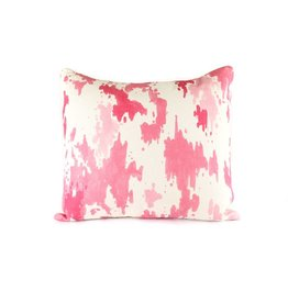 Splatter Pillow | Pink + White