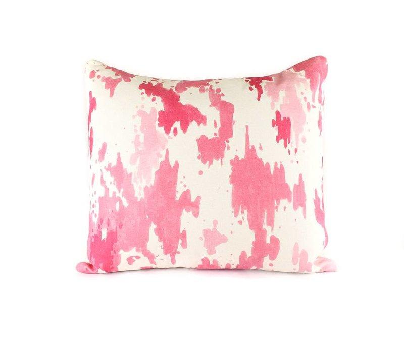 Splatter Pillow | Pink + White