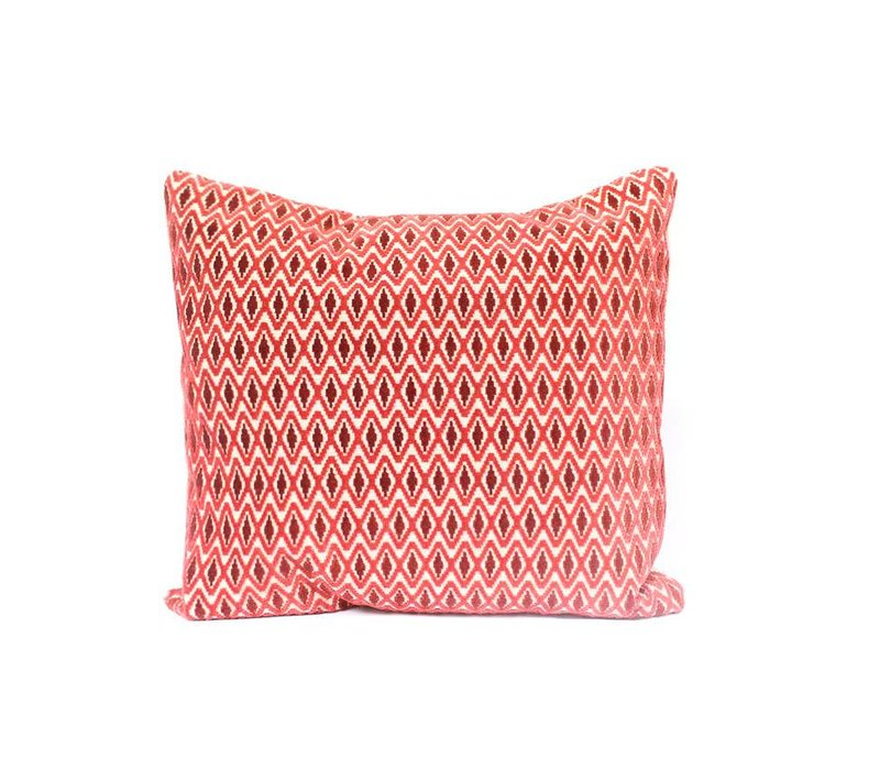 Retro Chevron Pillow | Red