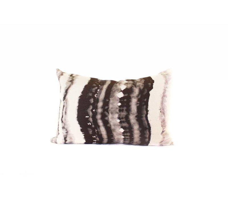 Ink Blot Pillow | Black + Cream