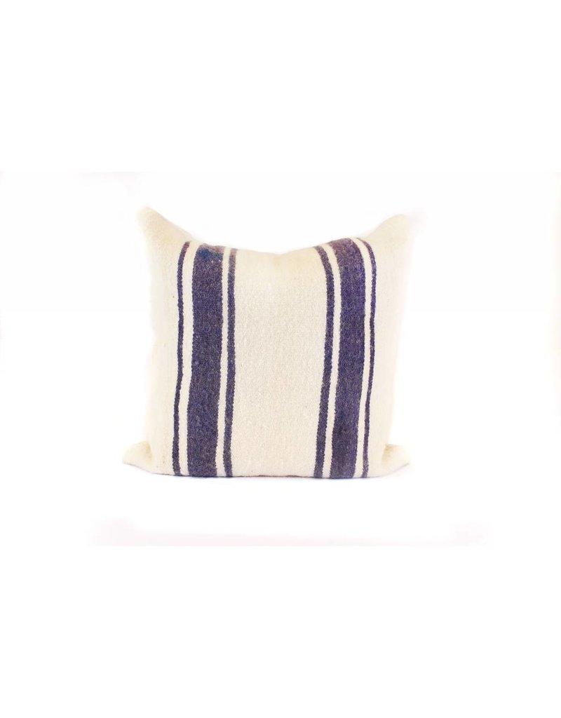 Big Sky Pillow | Cream + Indigo