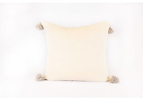 Alpaca Reversible Pom Pom Pillow