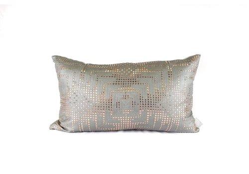 Vex Pillow | Lumbar | Green + Gold