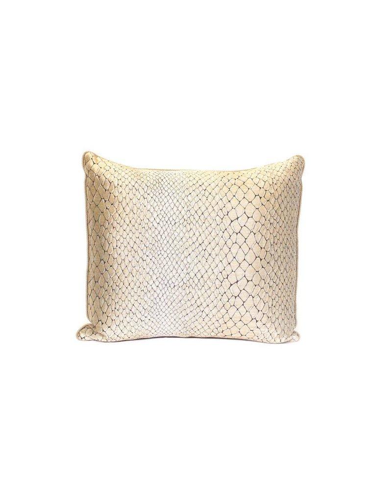 Snake Skin Pillow | Gold